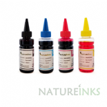 Natureinks 4 refill Black Cyan Magenta Yellow Bottles Set ( 400ml )